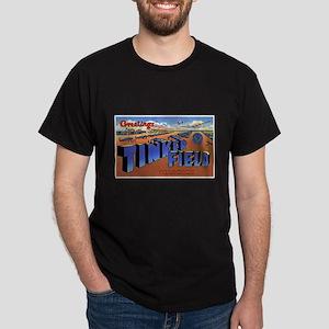 Tinker Field Oklahoma (Front) Black T-Shirt
