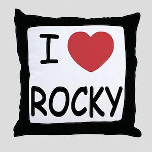 I heart Rocky Throw Pillow