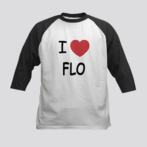 I heart Flo Kids Baseball Jersey