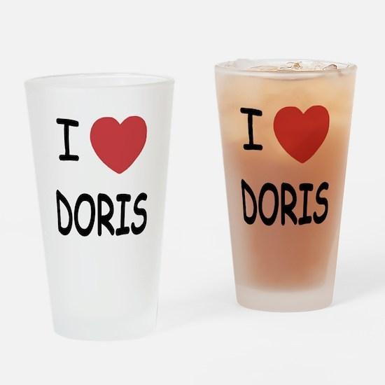 I heart Doris Drinking Glass