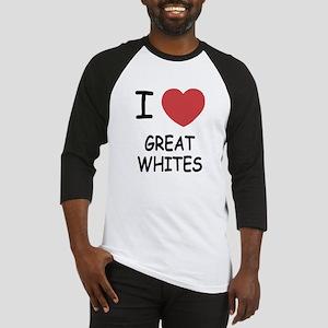 I heart Great Whites Baseball Jersey