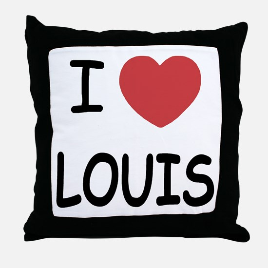 I heart Louis Throw Pillow