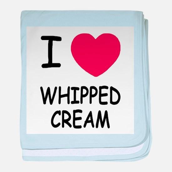 I heart Whipped Cream baby blanket