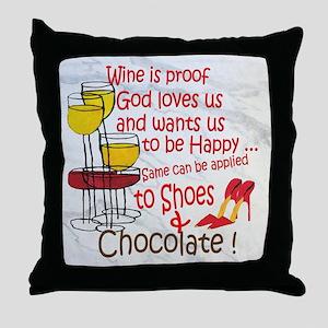 Wine & Chocolate Throw Pillow