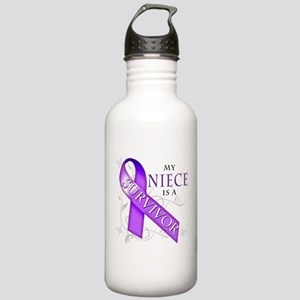 My Niece is a Survivor (purple) Stainless Wate
