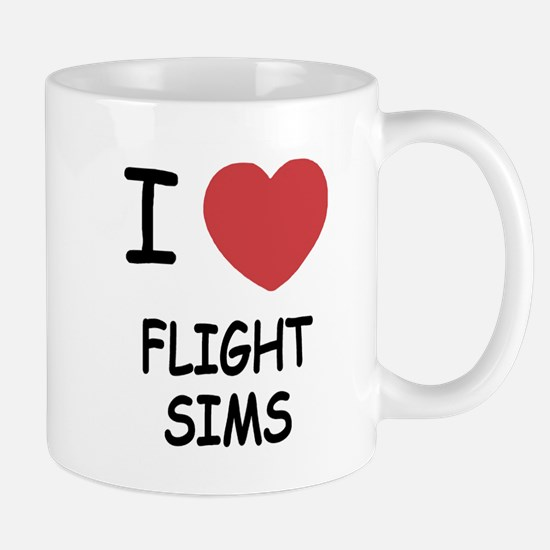 I heart Flight Sims Mug