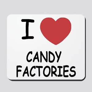 I heart Candy Factories Mousepad