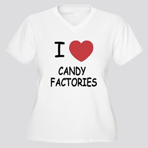 I heart Candy Factories Women's Plus Size V-Neck T