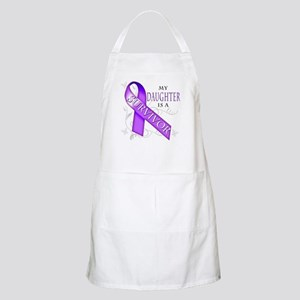 My Daughter is a Survivor (purple) Apron