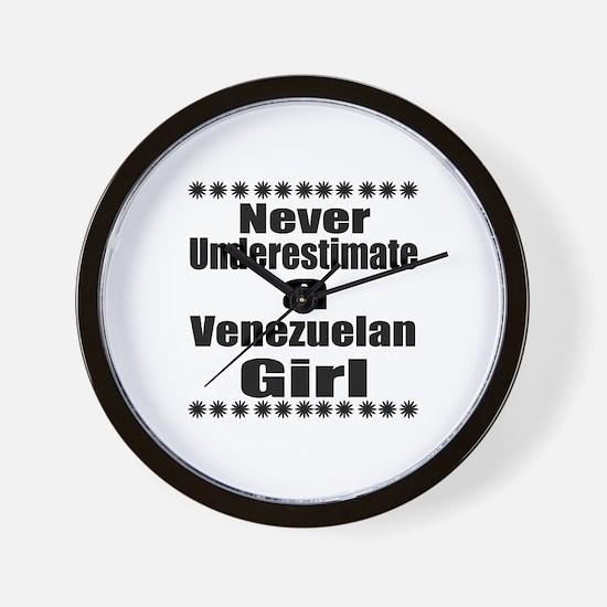 Never Underestimate A Venezuelan Girl Wall Clock