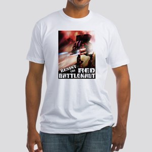 Red Battlenaut Image Cafe Press Fitted T-Shirt