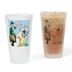 Polo Cartoon Drinking Glass