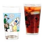 Polo Cartoon Drinking Glass