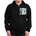 Polo Cartoon Zip Hoodie (dark)