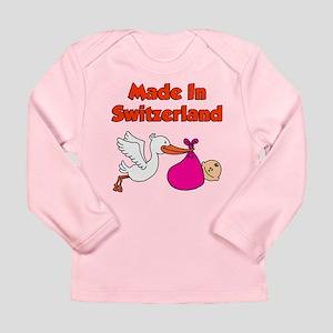 Made In Switzerland Girl Long Sleeve Infant T-Shir