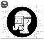 Gas Mask w/Eye Shield Puzzle