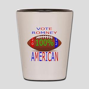 ALL AMERICAN ROMNEY Shot Glass