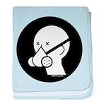 Respirator Mask Icon baby blanket