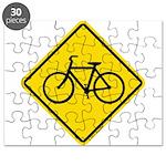 Bike Caution Sign Puzzle