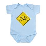 Bike Caution Sign Infant Bodysuit
