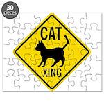 Cat Crossing Sign Puzzle