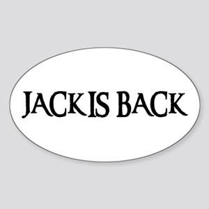 JACK IS BACK Oval Sticker