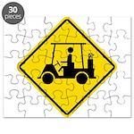 Golf Cart Caution Sign Puzzle