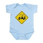Golf Cart Caution Sign Infant Bodysuit