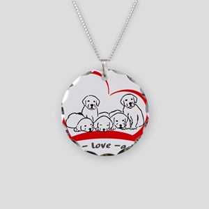 live love adopt Necklace Circle Charm