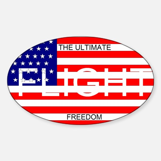 Flight - The Ultimate Freedom, Oval Decal