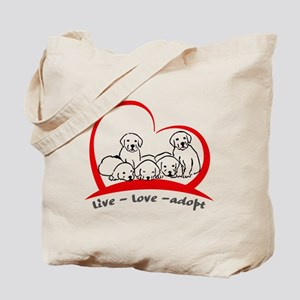 live love adopt Tote Bag