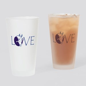 Love horse Drinking Glass