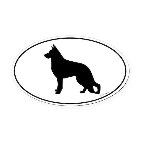 German Shepherd Oval Car Magnet