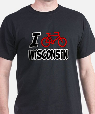 I Love Cycling Wisconsin T-Shirt