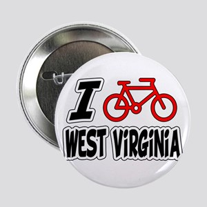 """I Love Cycling West Virginia 2.25"""" Button"""