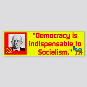 Lenin/Democracy Sticker (Bumper)