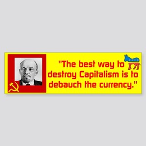 Lenin/Currency Sticker (Bumper)