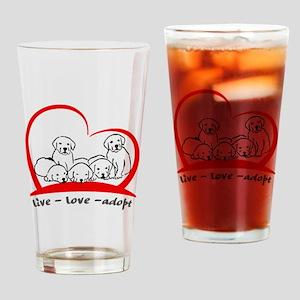 live love adopt Drinking Glass