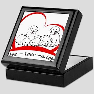 live love adopt Keepsake Box