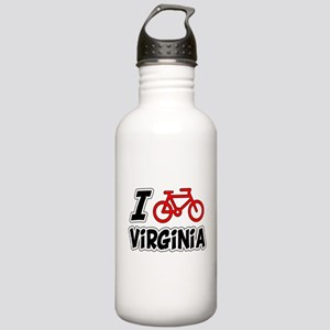 I Love Cycling Virginia Stainless Water Bottle 1.0