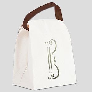 Elegant Alto Clef Canvas Lunch Bag