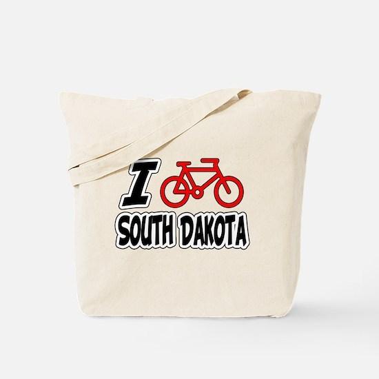 I Love Cycling South Dakota Tote Bag