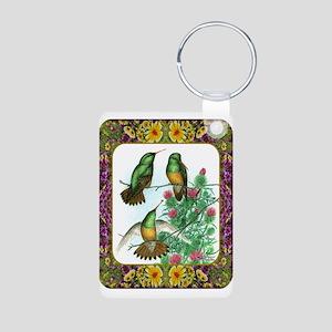 Buff Bellied Hummingbirds Aluminum Photo Keychain