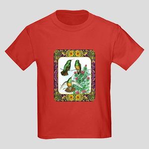 Buff Bellied Hummingbirds Kids Dark T-Shirt