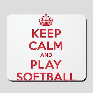 Keep Calm Play Softball Mousepad