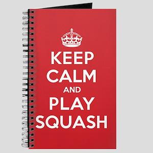 Keep Calm Play Squash Journal