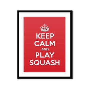 Keep Calm Play Squash Framed Panel Print