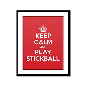 Keep Calm Play Stickball Framed Panel Print