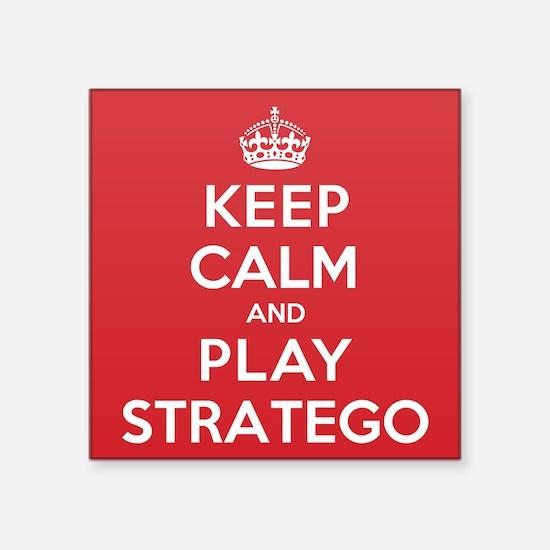 "Keep Calm Play Stratego Square Sticker 3"" x 3"""