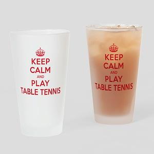 Keep Calm Play Table Tennis Drinking Glass